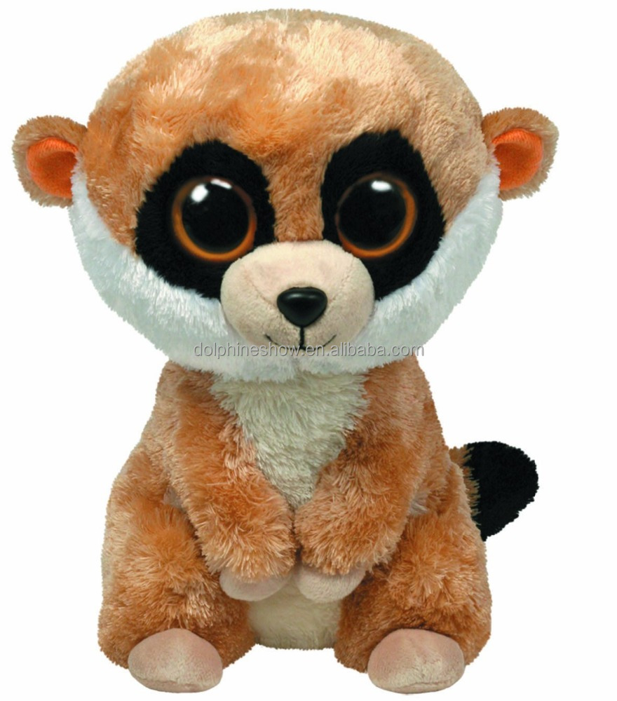 2016 Cartoon cute fashion ty beanie boos animal squirrel stuffed soft big eyes plush toy