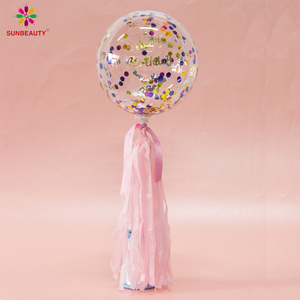 Sunbeauty New Design Ins Custom Type Party Confetti PVC Transparent Balloons