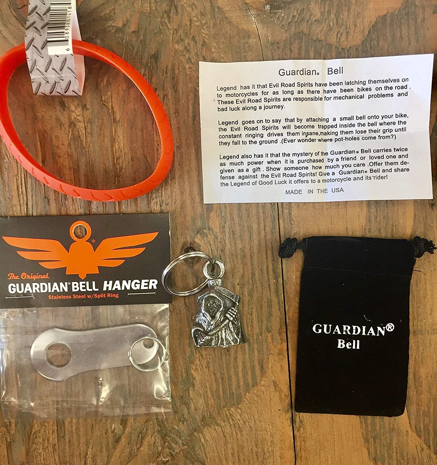 Guardian® Bell Grim Reaper Complete Motorcycle KIT W/Hanger & Wristband