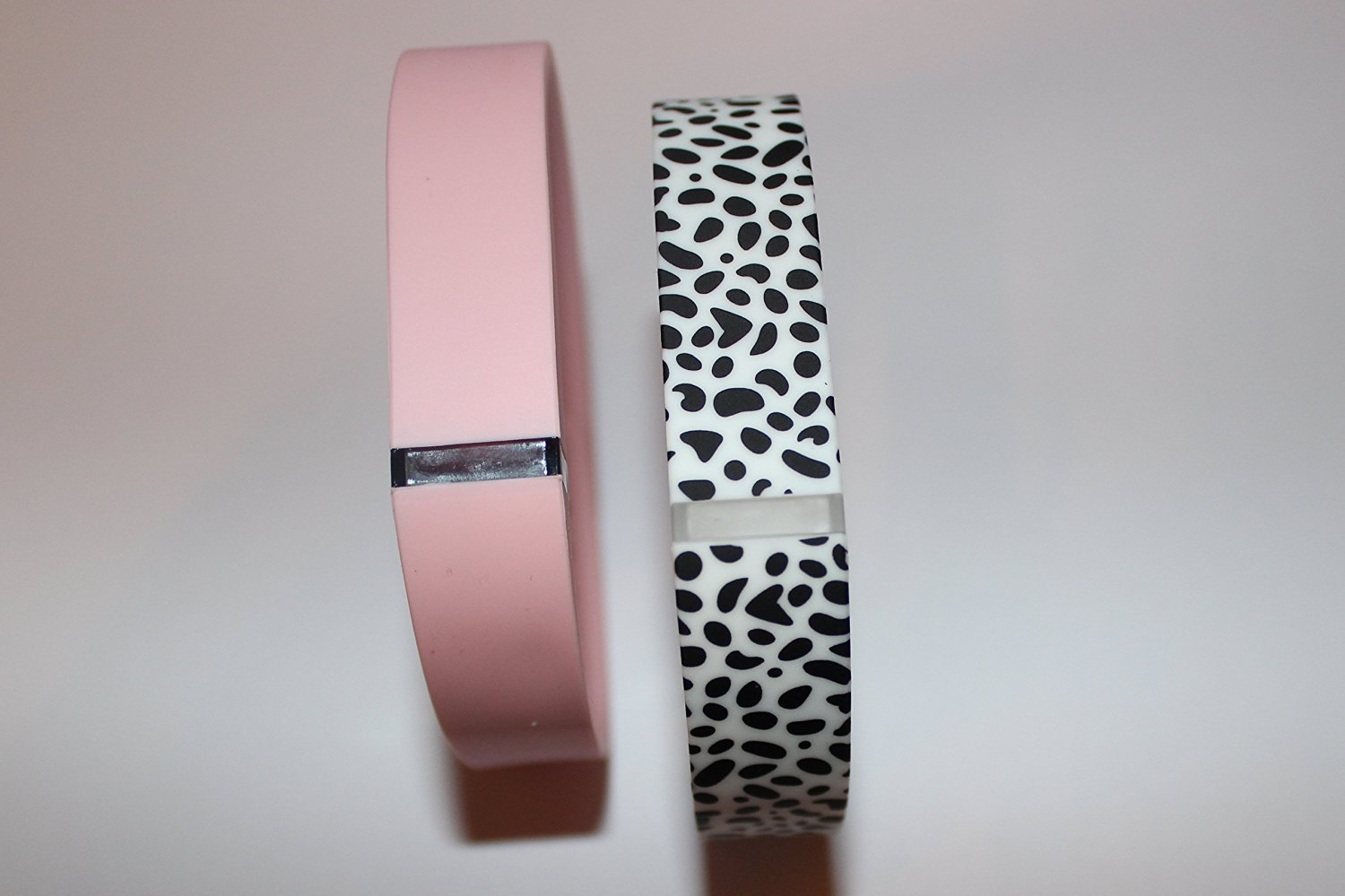 SUPTG Large 1 Dalmatian and 1 Baby Pink Wrist Bands For Fitbit Flex Bracelet (With Clasp , No Tracker) Replacement Bands Wireless Fitness Accessories Tracking Exercise Sport Activity