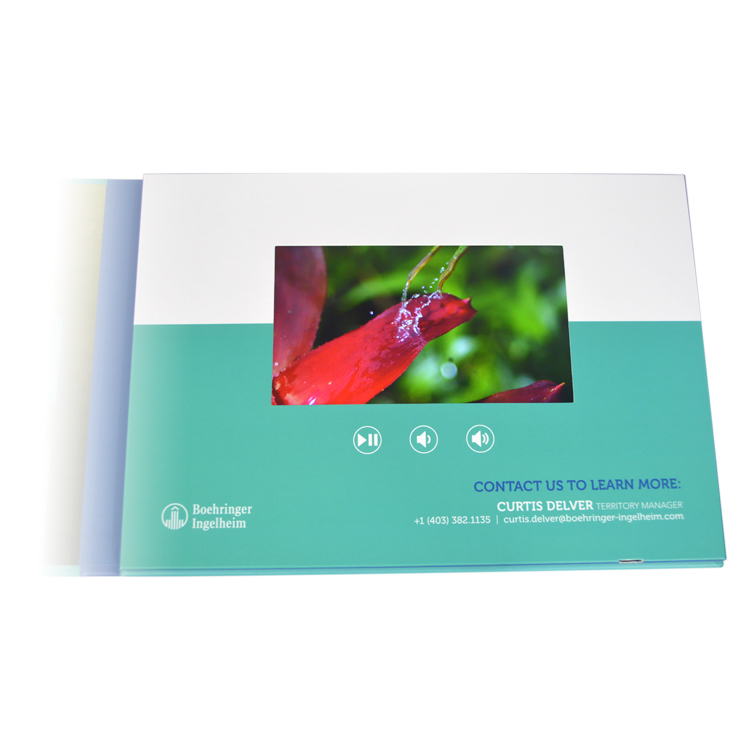 4.3 inch video marriage cards support portable digital brochure lcd screen player video folder