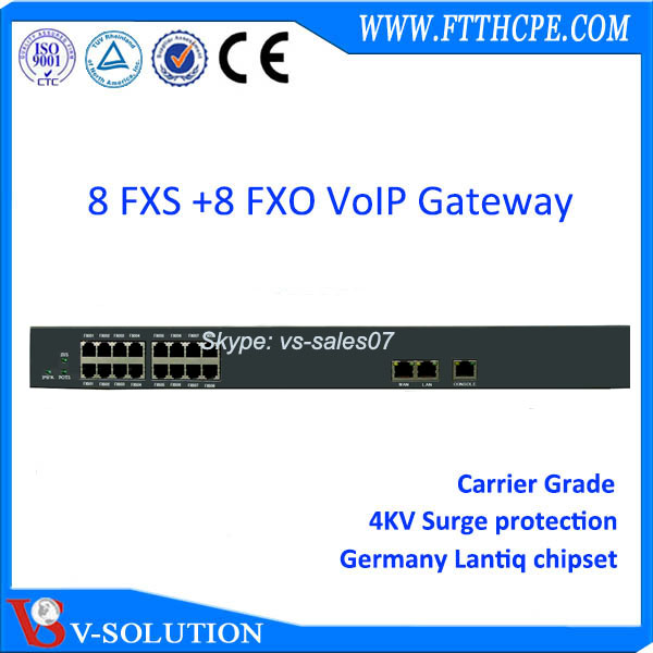 Layer 3 phone system 8 port sip voip fxs fxo pstn