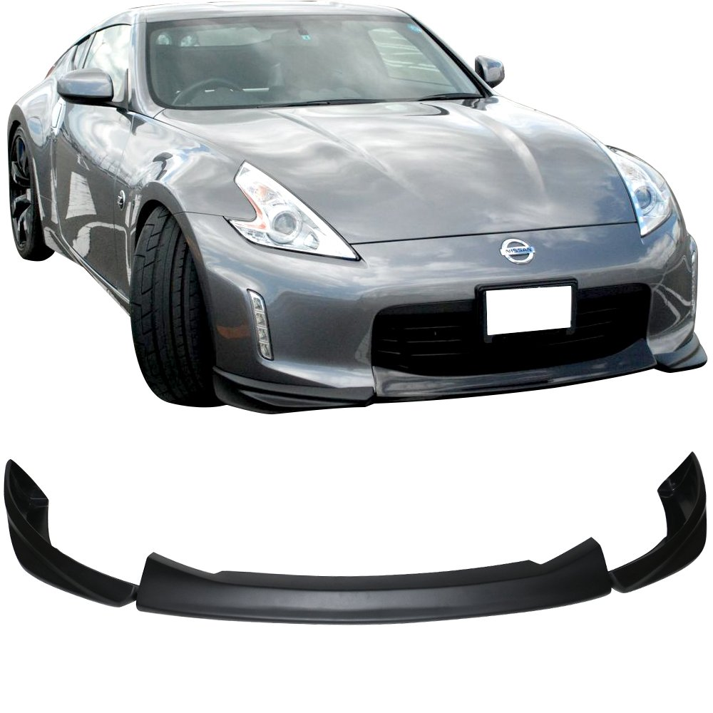 Front Bumper Lip Fits 2014-2015 Honda Civic HF-P Style Black PU Front Lip Finisher Under Chin Spoiler Add On by IKON MOTORSPORTS