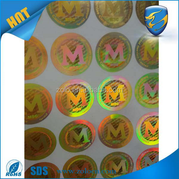 Original Custom Security Hologram Stickers and Labels with Micro text/Nano text Hidden image