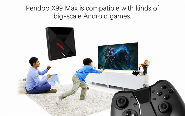 smart tv box Pendoo x99 max Rk3399 4G 32G android 7.1 with 4G sim card and digital display set top box wifi  smart tv box