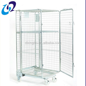 2018 high quality wheeling roll cage trolley