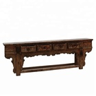 Antique chinoiserie furniture hand carved wooden console table