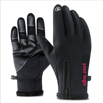 Anti slip touch screen gloves thicken warm climbing touch screen gloves with best quality