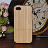 Mobile phone bags For iPhone 5 5S wooden real Bamboo hard back housing