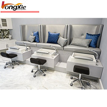 2019 Simple design modern hot sale spa pedicure chair bench for beauty salon