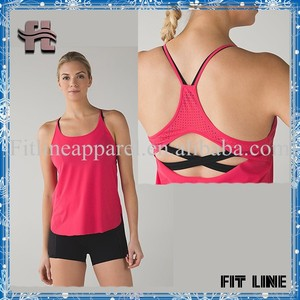 Custom high quality women sports tank tops sexy racerback blank loose fit camisole quick dry gym singlet tops