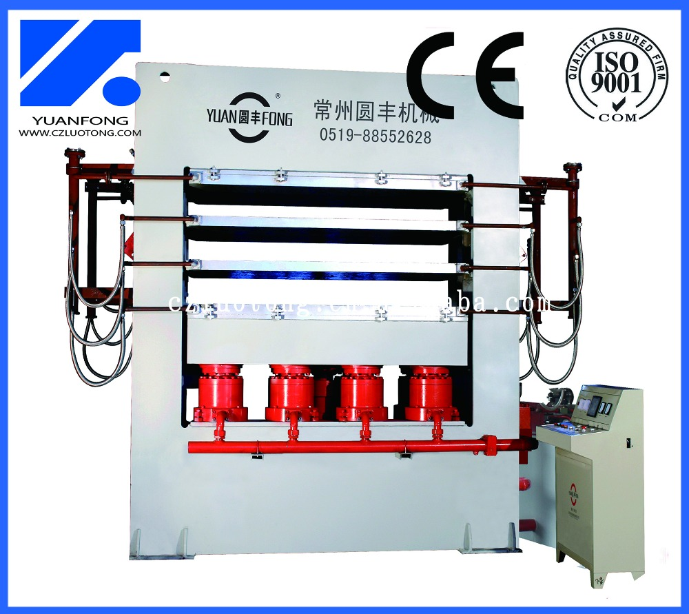 YXDM 1200T High Capacity 3 Layers Flush Door Skin Hot Press Machine