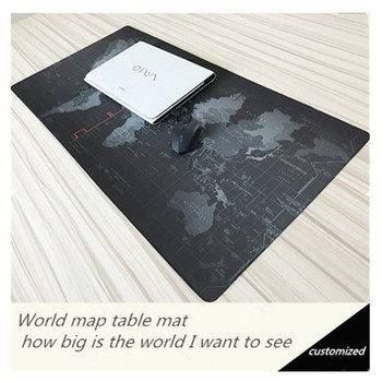 World map Section Precision seam oversized non-slip Padded Mouse Pad Game Leather Keyboard Desk pad Custom
