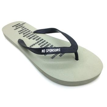 ac742562f6fa Promotional OEM Logo rubber flip flops wholesale name brand sandals eva  european style back strap antislip
