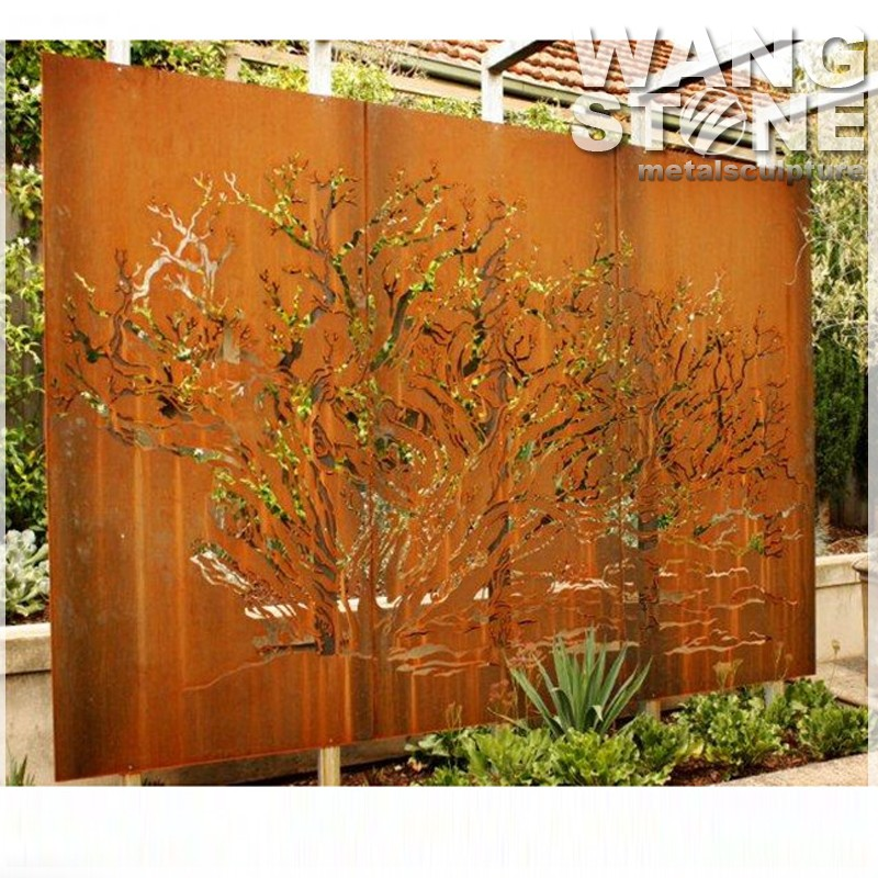 Corten Steel Rusty Decoration Laser Cut Outdoor Metal
