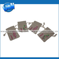 Customized organic linen candy pouch,mobile bag,jewelry bag