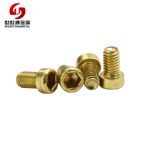 DIN 912 M3*5HM Hexagon Socket Head Machine Thread Finish Plain Brass Caps Screws