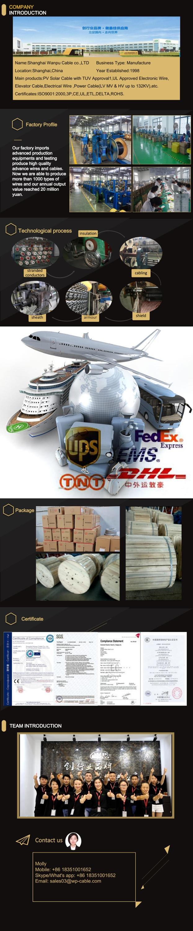 4mm Flat Wire 4/8/16 Core Travelling Elevator Parts Pvc Jacket ...
