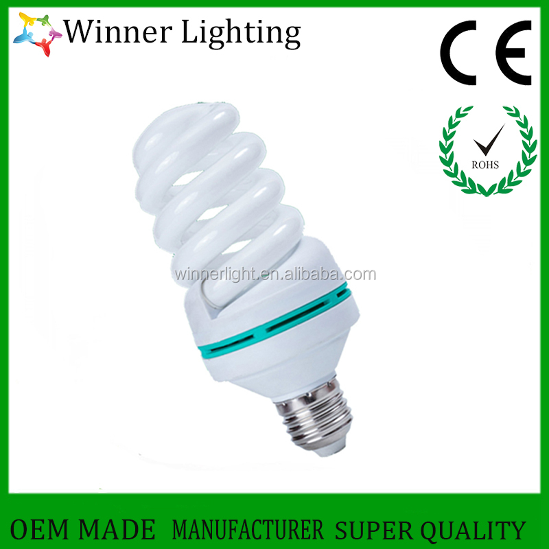 economic lamp 40w full spiral cfl lamp 3000h 12mm 6400k energy saving bulbs manufactures in china