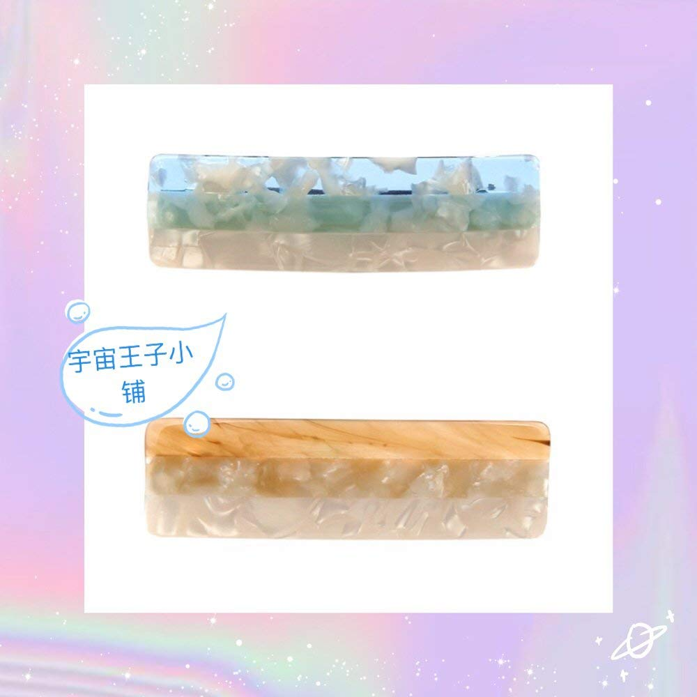 usongs Prince Shop cosmic light luxury star with acetic acid mixed colors literary small fresh sweet elegant hairpin