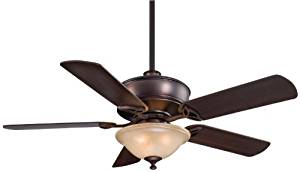 "Minka Aire F620-DBB Bolo - 52"" Ceiling Fan with Light Kit, Dark Brushed Bronze Finish with Dark Maple Blade Finish with Avorio Mezzo Glass"