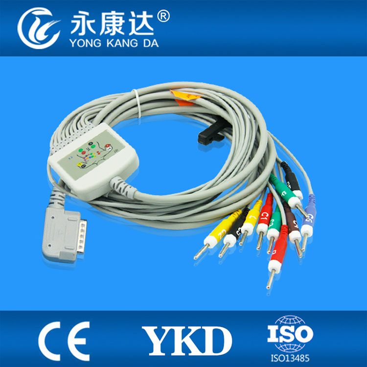 Kenz PC-109 / 108 / 110 / 1203 / 1205 10 leads ECG cable