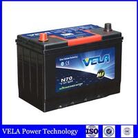 2016 good quality automotive battery manufacture lead acid MF car battery N70 65D31R 70ah JIS standard for sale