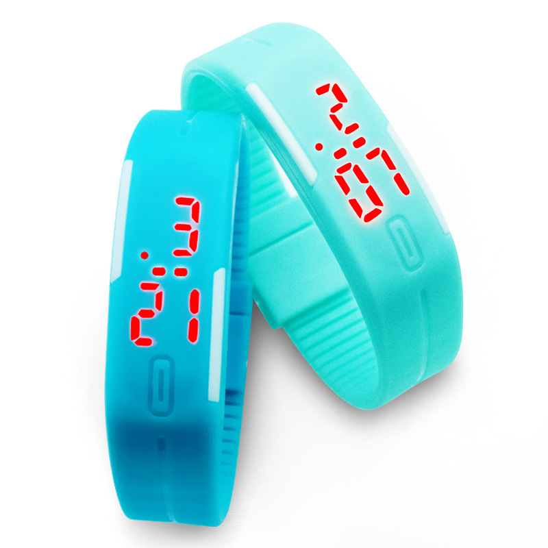 New Arrival Sport LED Watch Candy Color Silicone Touch Screen Digital Watches Wristwatch Dress Bracelet