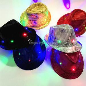 Flashing Light Up Fedora Caps Light Blue Fedora Hat Pork Pie Hat - Buy Pork  Pie Hat 6497fe34ed48