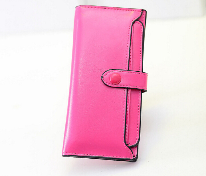 2015 popular summer new Korean style purse 5 colours long pattern ladies wallet PU leather clutch