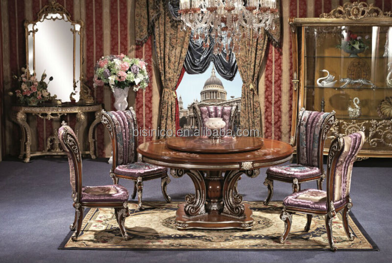 British Style Royal Dining Room SetNoble Versailles FurnitureReplica Palace Dinning Set