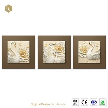 100 El Yapımı Yüksek Kalite Soyut Kuğu Popüler Yeni Tasarım Boyama