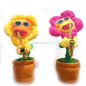 225 & 34cm Hot Solar Music Dancing Flower Plush Toys