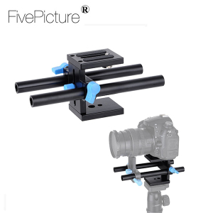 "15mm Rail Rod Support System Baseplate Mount with 1/4""Screw Plate for Canon DSLR Follow Focus Rig 5D2 5D 5D3 7D"