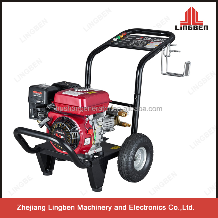 Lingben portable gasoline high pressure washer car wash equipment 180Bar 2600PSI 7HP engine LB-180HB