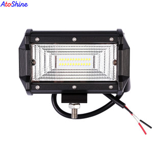 Dual Row 36W Flood Beam Spotlight LED Work Light For JEEP Truck Tractor