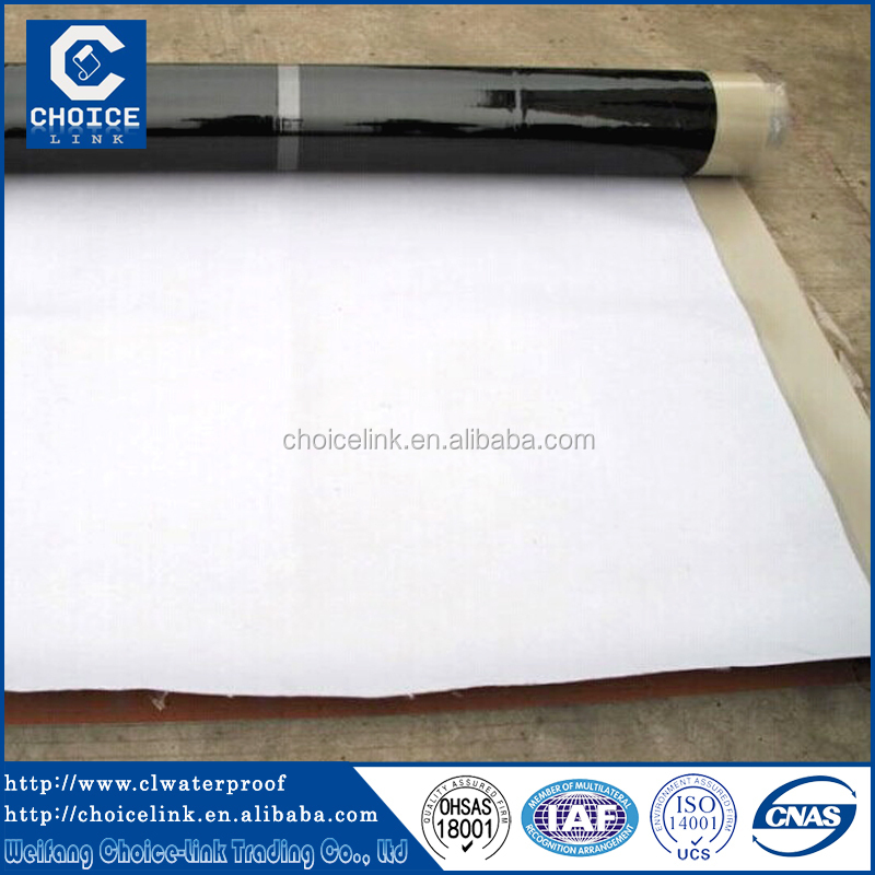 Self-adhesive asphalt waterproof roofing felt/laminate