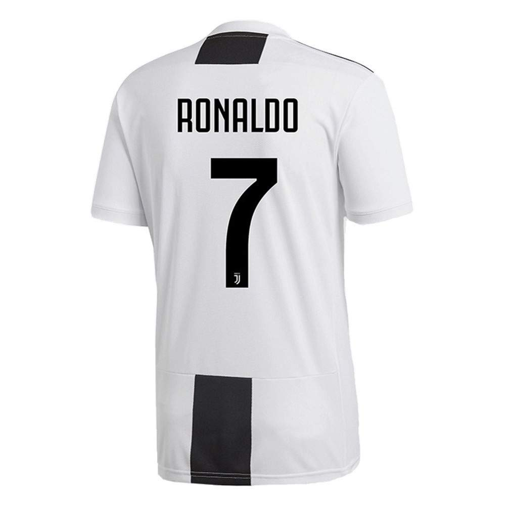 Get Quotations · Ronaldo 7 Juventus 2018 2019 Home Men s Soccer Jersey 13064583b