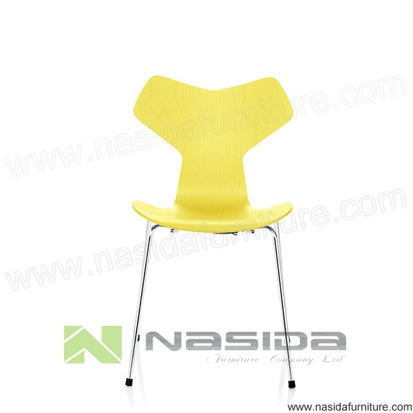 CH289 Wholesale yellow Grand Prix Chair by arne jacobsen in diningroom
