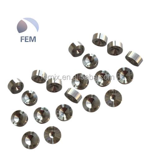 WUXI FEM fábrica Maior vida útil nível Superior qualidade PCD diamante de Ferro ou de Cobre ou de Desenho do fio de aço ou SS morre