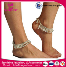 Belly Dance Exotic Fashion Bell Anklet - Silver