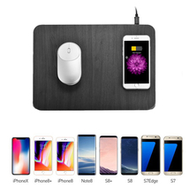 Cell Phone Qi Wireless Charger Charging Mouse Pad Mat for iphone 8/x