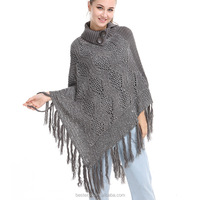 fashion new fashion turtleneck paillette poncho shining cashmere women sweaters