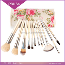 12 pcs natural horse hair professional makeup tools cosmetic brush set