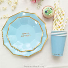 Best prices different styles popular party paper plates and paper cup