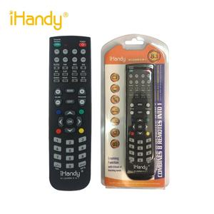 iHandy IH-LEARN8IN1 BLACK UNIVERSAL universal remote control for tv vcd dvd vcr 8 in 1 remote control with learning