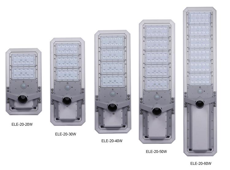 CE FCC RoHS Semua Dalam Satu Lampu Jalan Surya 10 W 20 W 30 W Kuno Lampu Jalan untuk partai Besar