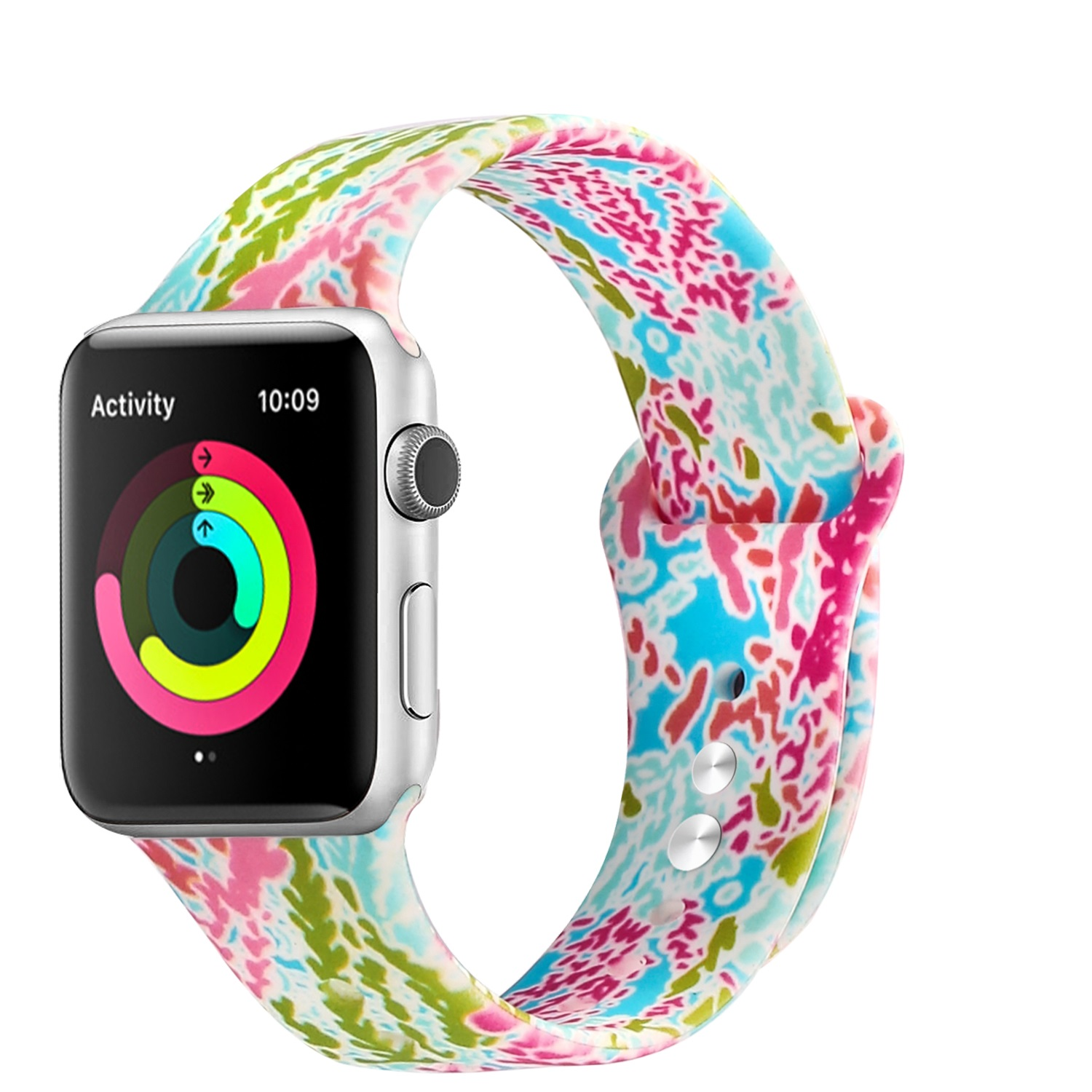Lilly Pulitzer Inspired Watch Rubber Strap For Apple Watch Band Strap For iWatch Silicon Band фото