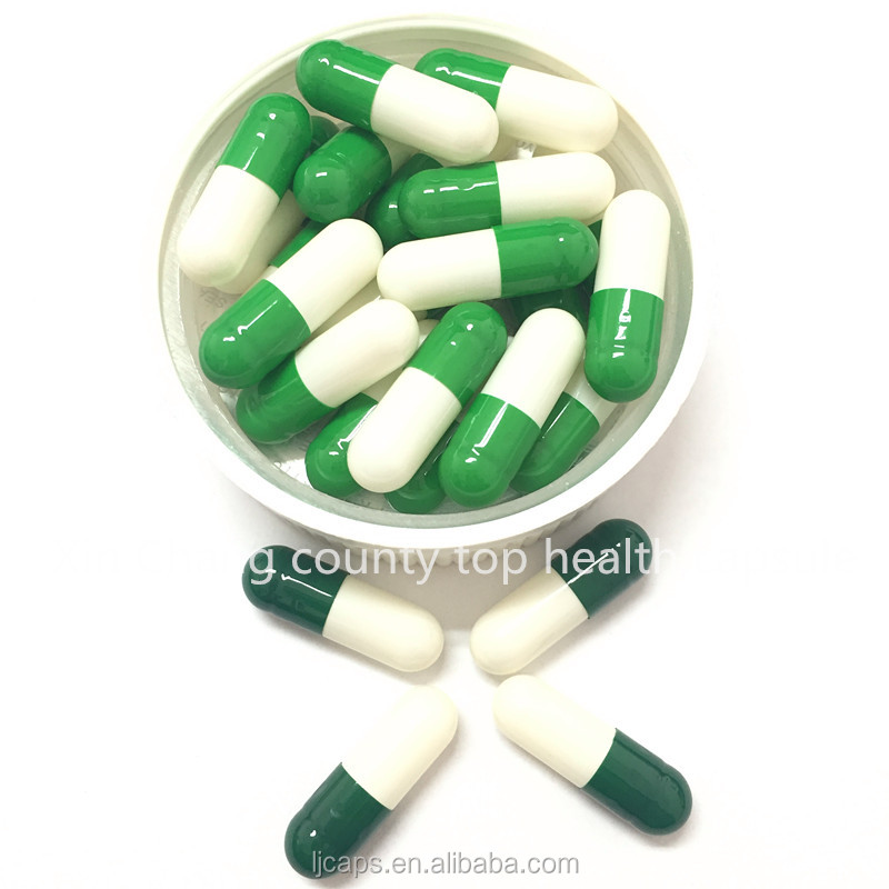 Empty hard Gelatin Capsule GMP FDA HALAL combined separated capsules
