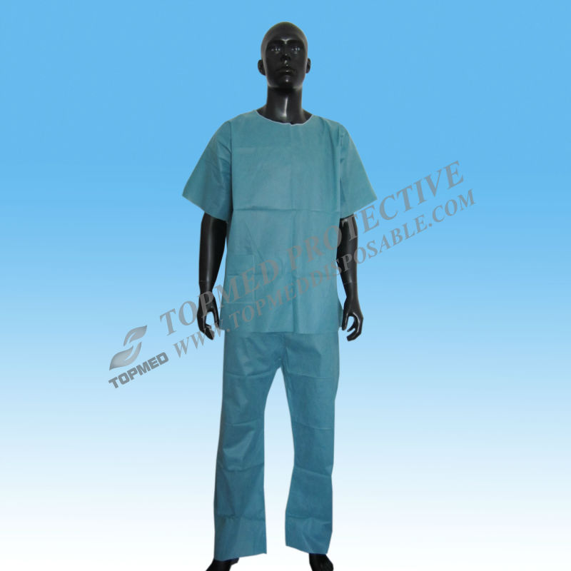 Customized Nonwoven disposable medical uniforms,scrub suits with FDA